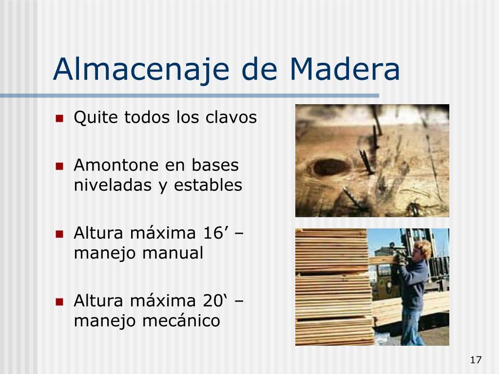 Almacenaje de Madera