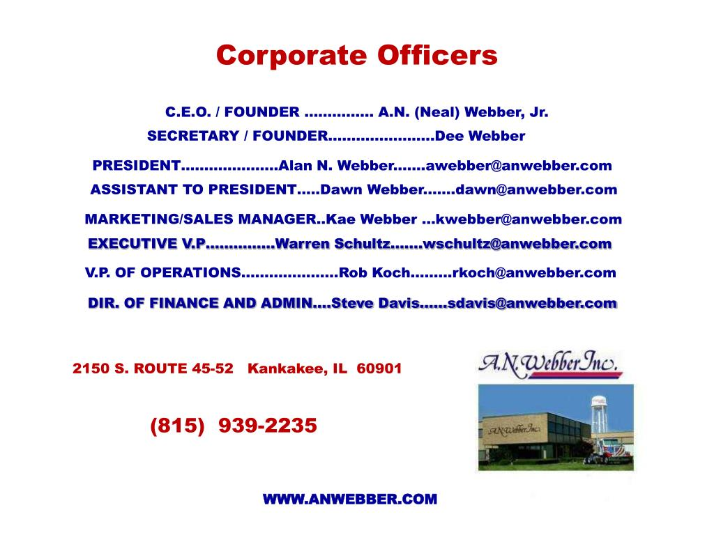 Corporate Officers
