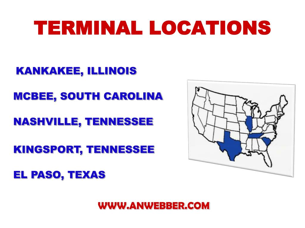 TERMINAL LOCATIONS