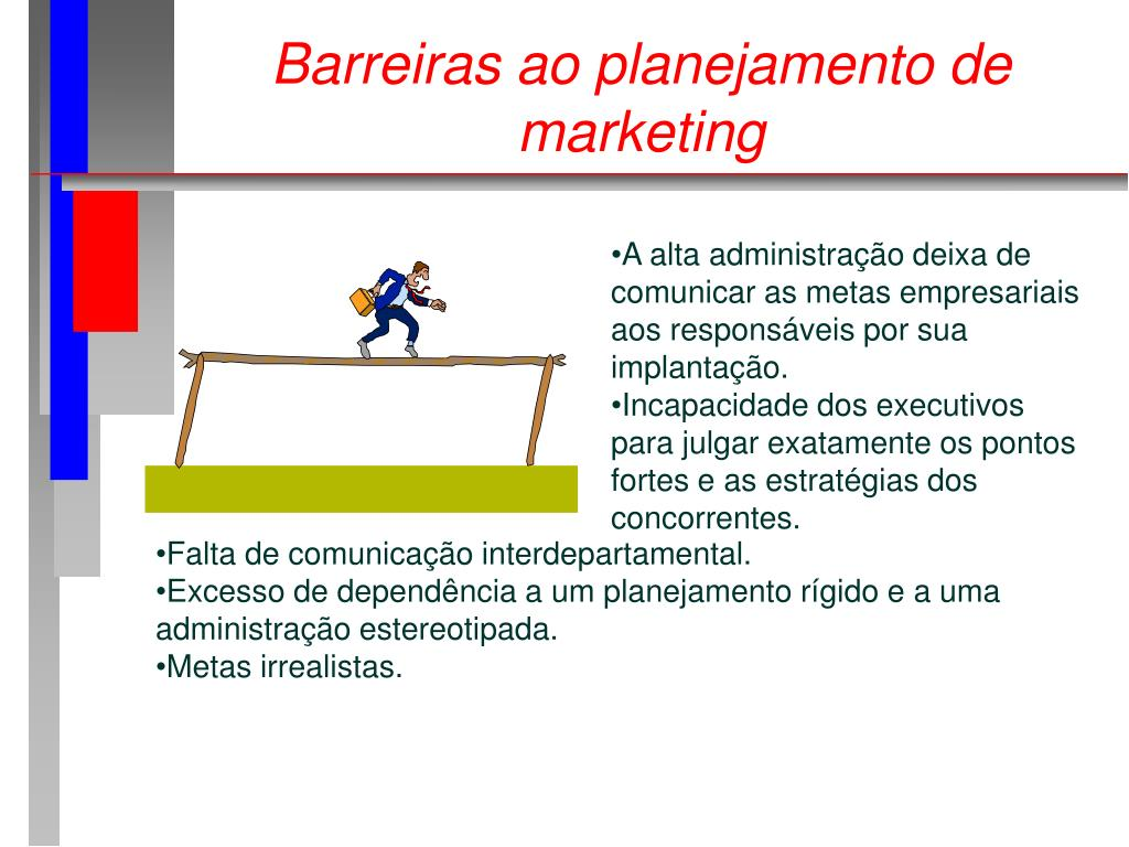 Barreiras ao planejamento de marketing