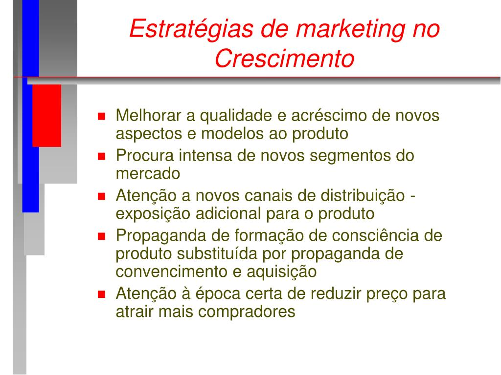 Estratégias de marketing no Crescimento