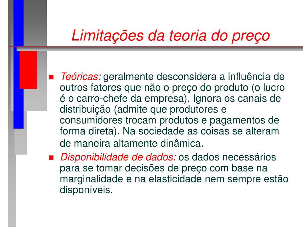 Limitações da teoria do preço