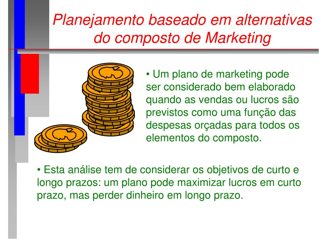 Planejamento baseado em alternativas do composto de Marketing