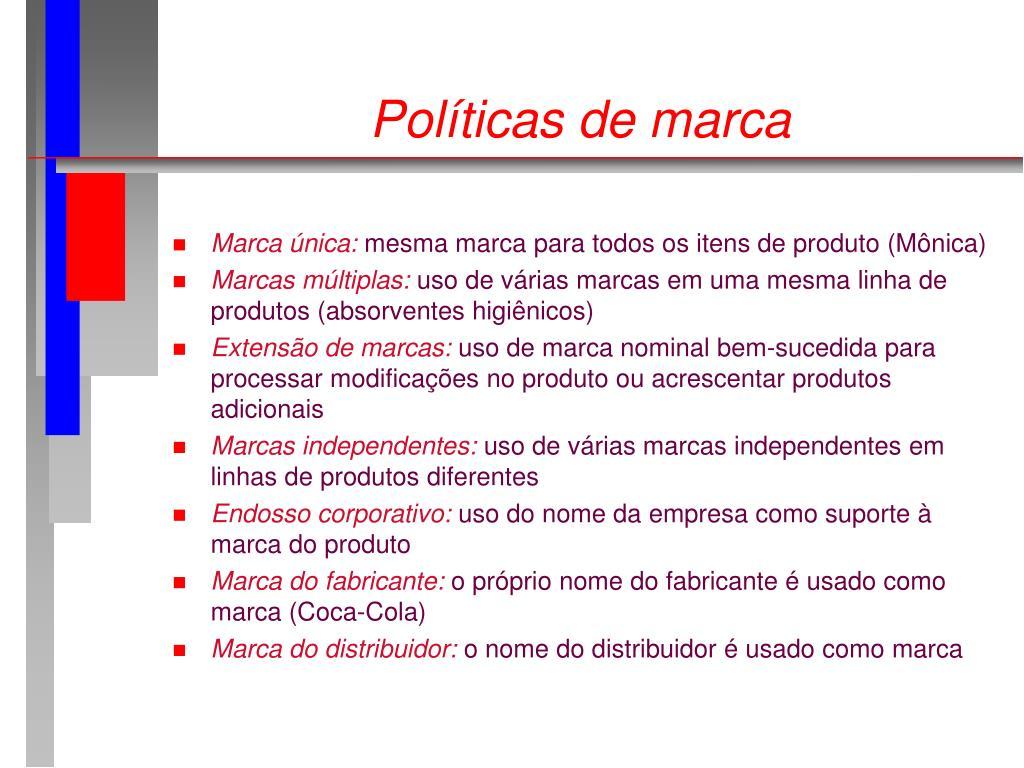 Políticas de marca
