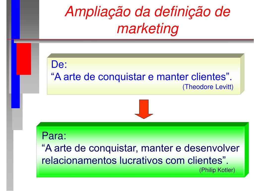 Ampliação da definição de marketing