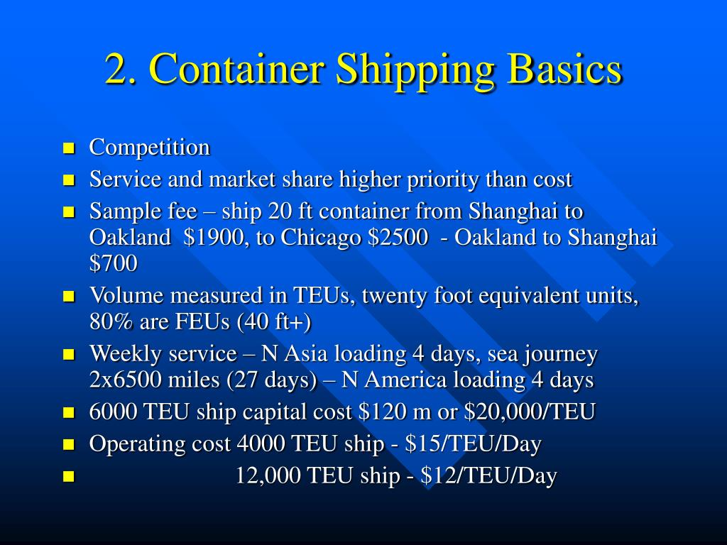 2. Container Shipping Basics