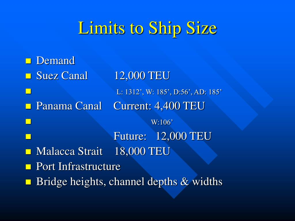 Limits to Ship Size