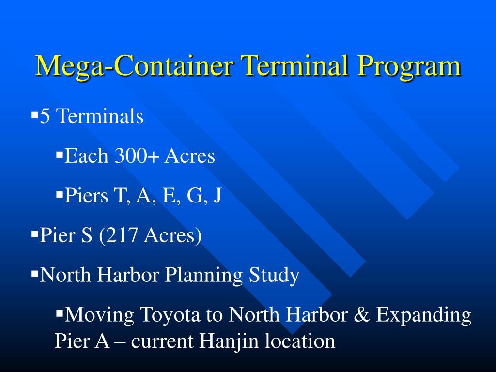 Mega-Container Terminal Program