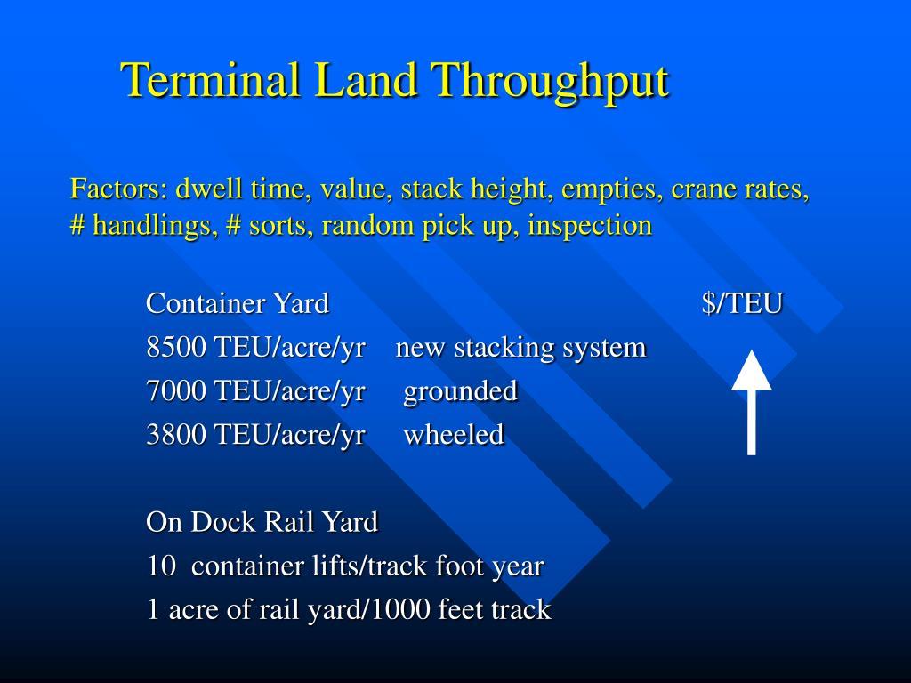 Terminal Land Throughput