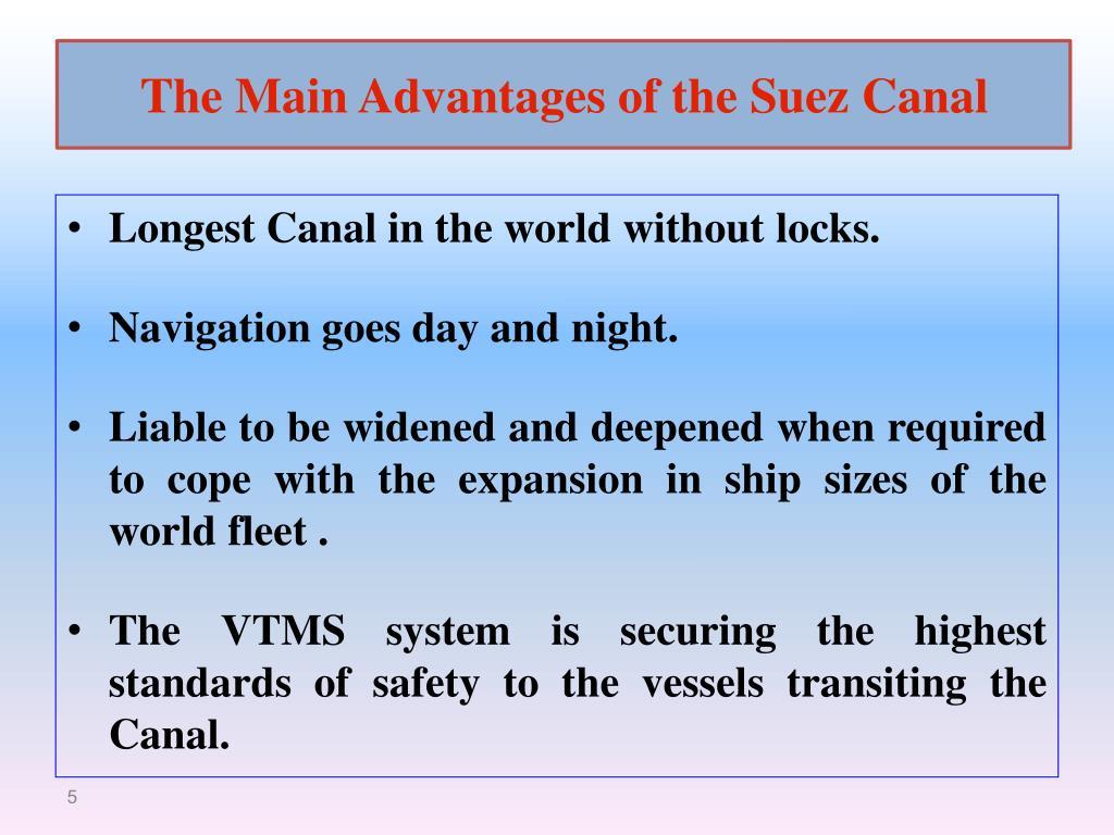 The Main Advantages of the Suez Canal