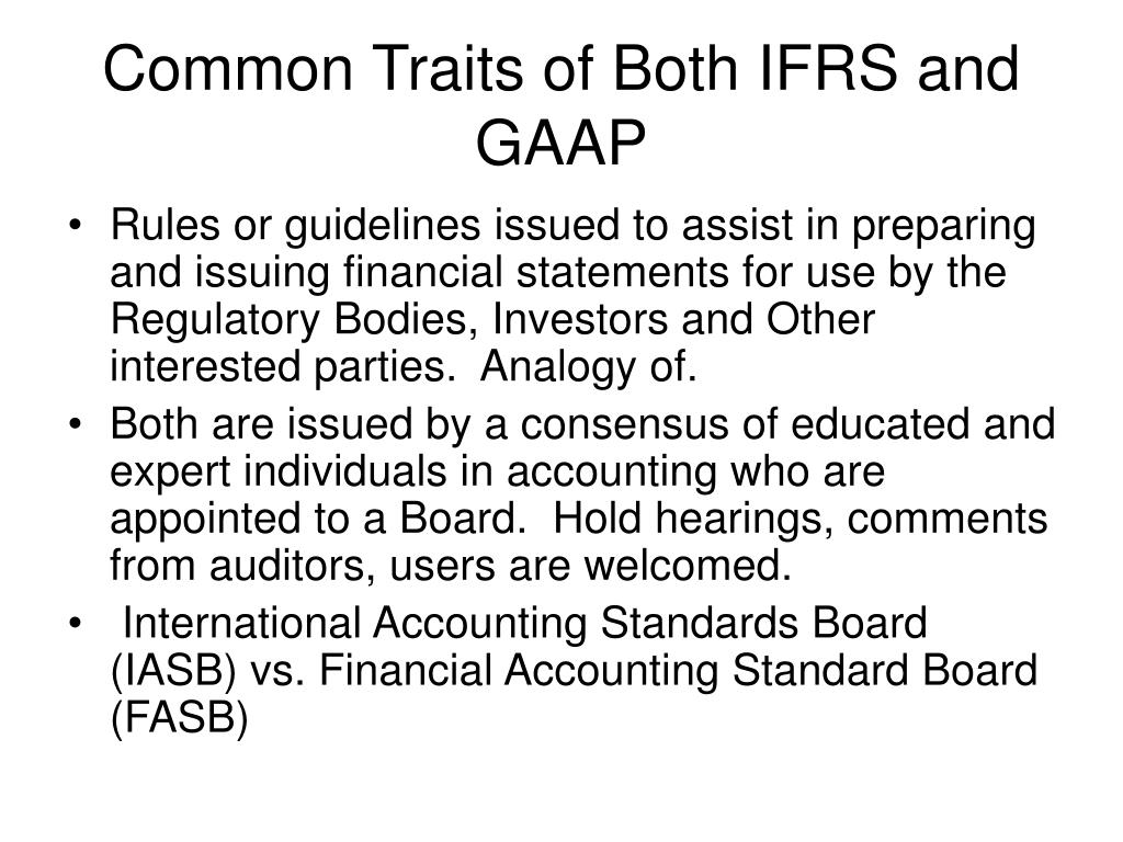 investment under ifrs and gaap