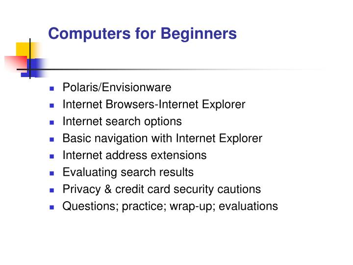 Computers for beginners2
