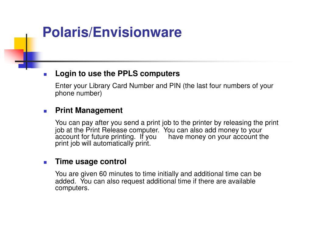 Polaris/Envisionware