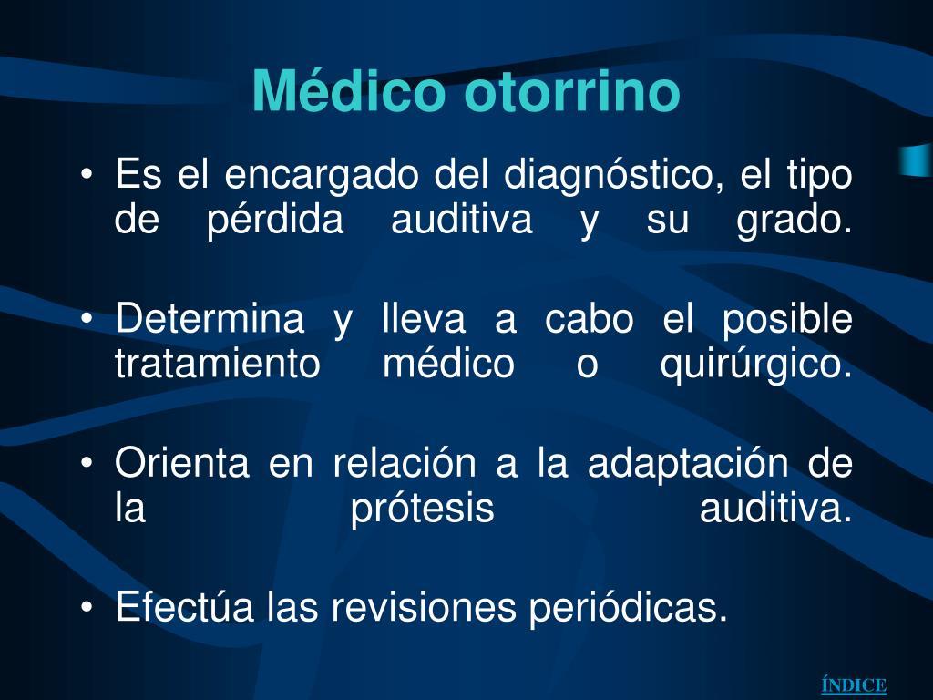 Médico otorrino