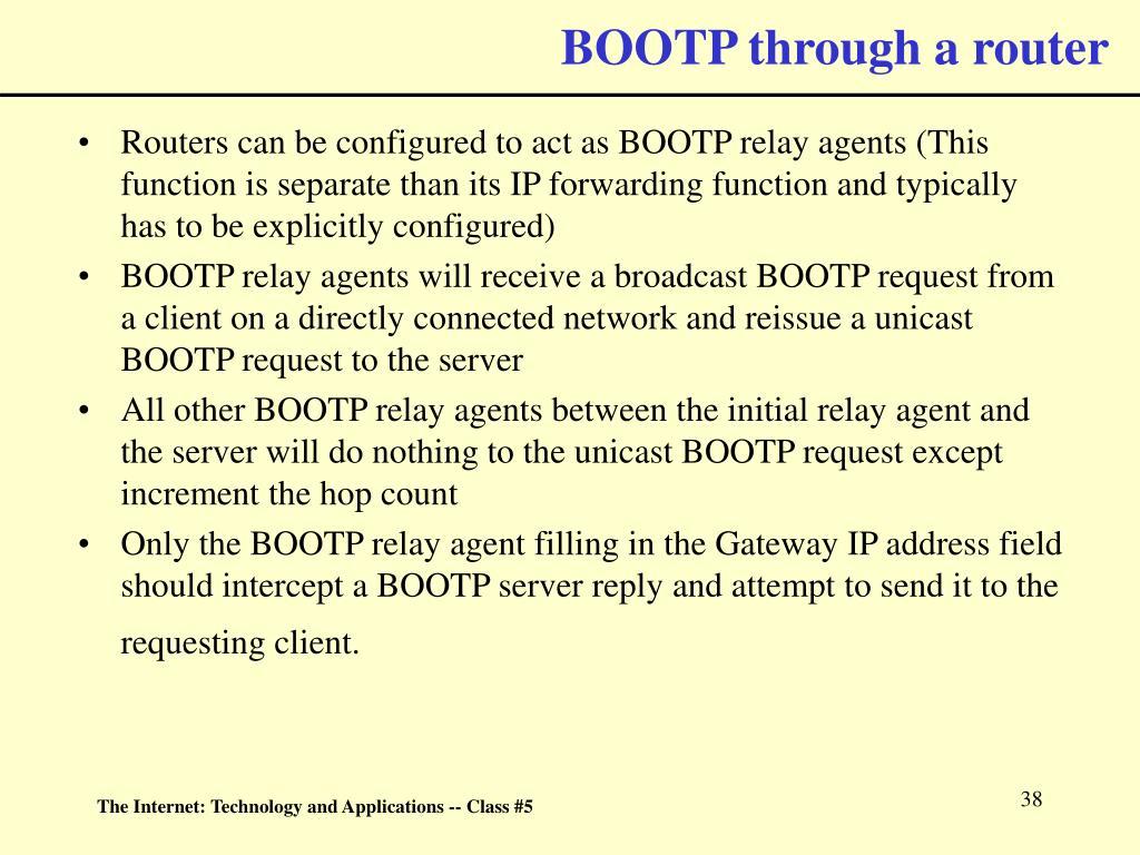 BOOTP through a router