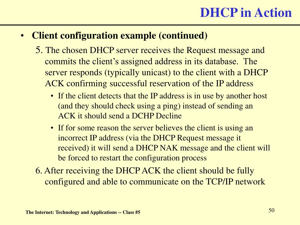 DHCP in Action