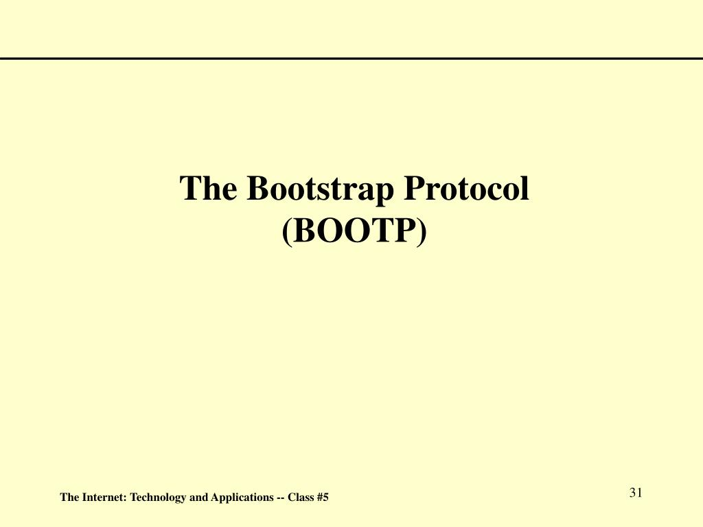 The Bootstrap Protocol (BOOTP)