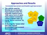 approaches and results incremental improvement and breakthrough improvement42