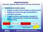 implementation execution systems improvement jit lean production29