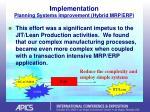implementation planning systems improvement hybrid mrp erp20