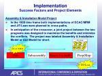 implementation success factors and project elements33
