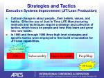 strategies and tactics execution systems improvement jit lean production