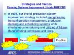 strategies and tactics planning systems improvement hybrid mrp erp
