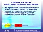 strategies and tactics planning systems improvement hybrid mrp erp17