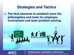 strategies and tactics11