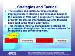 strategies and tactics14