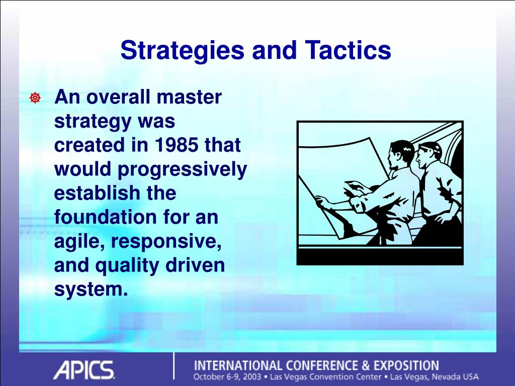 Strategies and Tactics