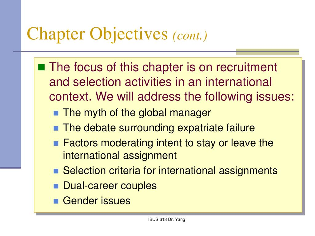 criteria for selecting staff for international assignments management essay Staff/management relations,  which address the need to recruit staff at both the national and international levels  assignments staff well-being.