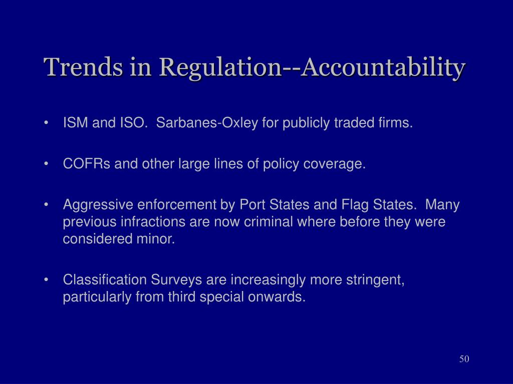 Trends in Regulation--Accountability