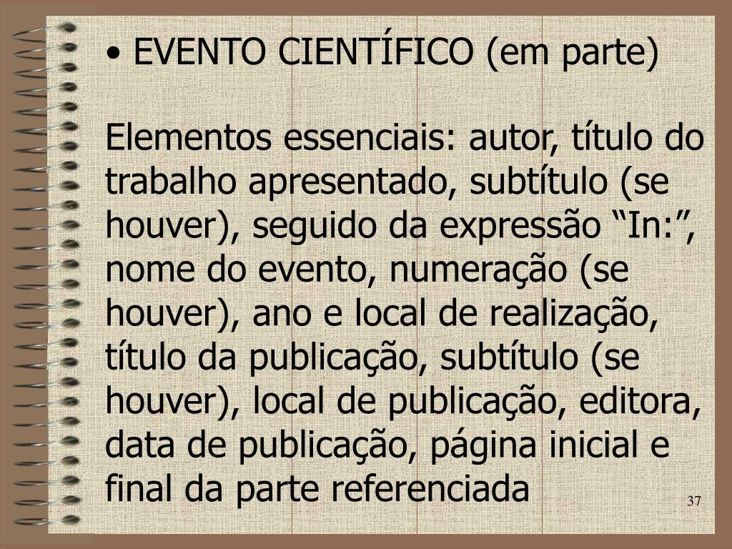 EVENTO CIENTÍFICO (em parte)
