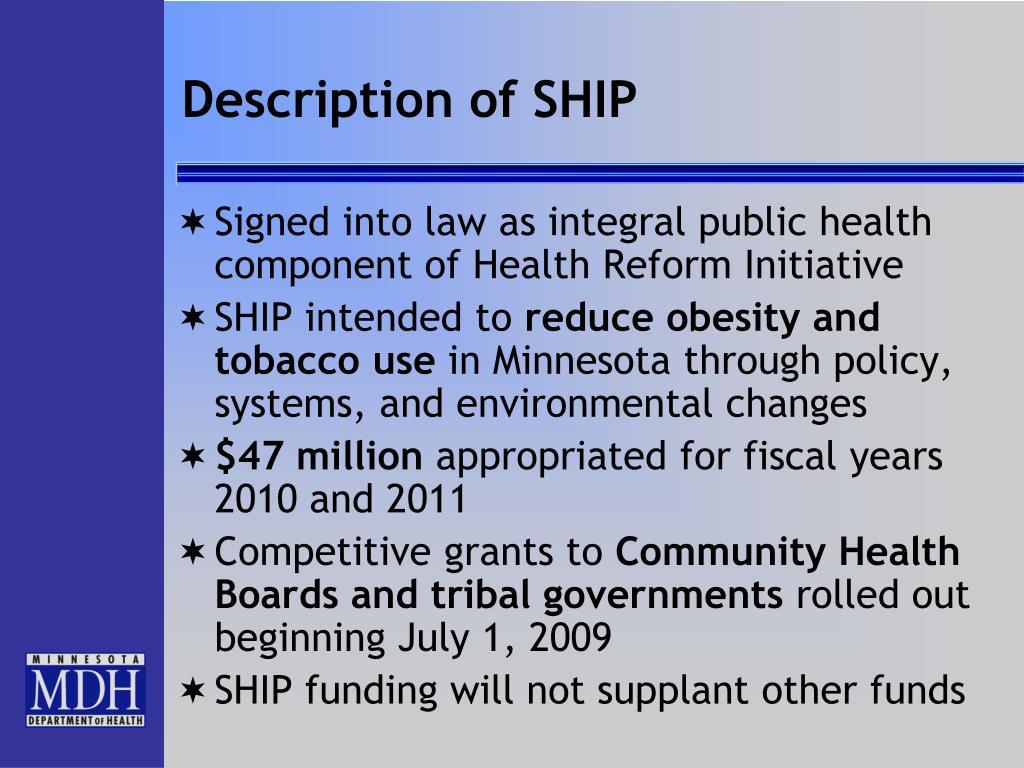 Description of SHIP