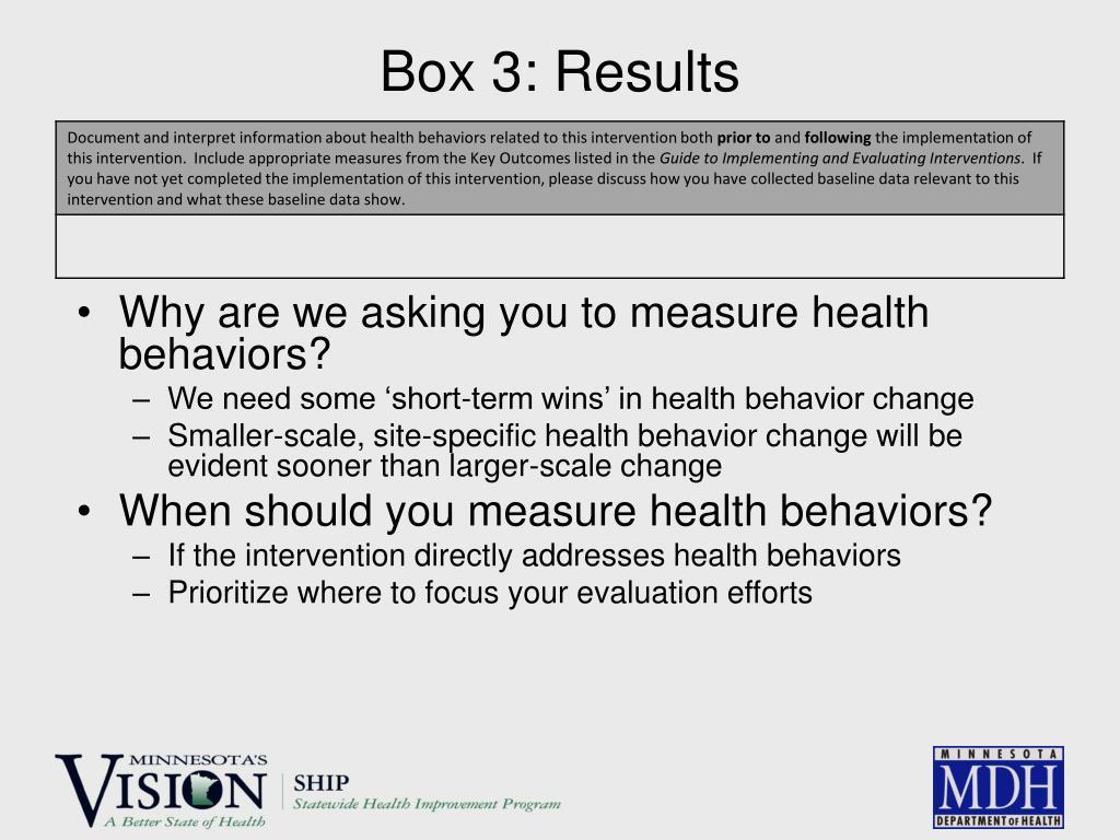 Box 3: Results