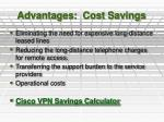 advantages cost savings