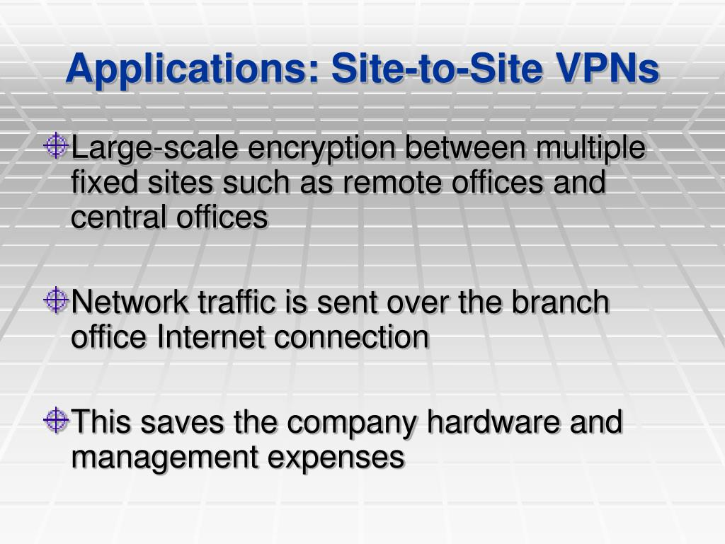 Applications: Site-to-Site VPNs