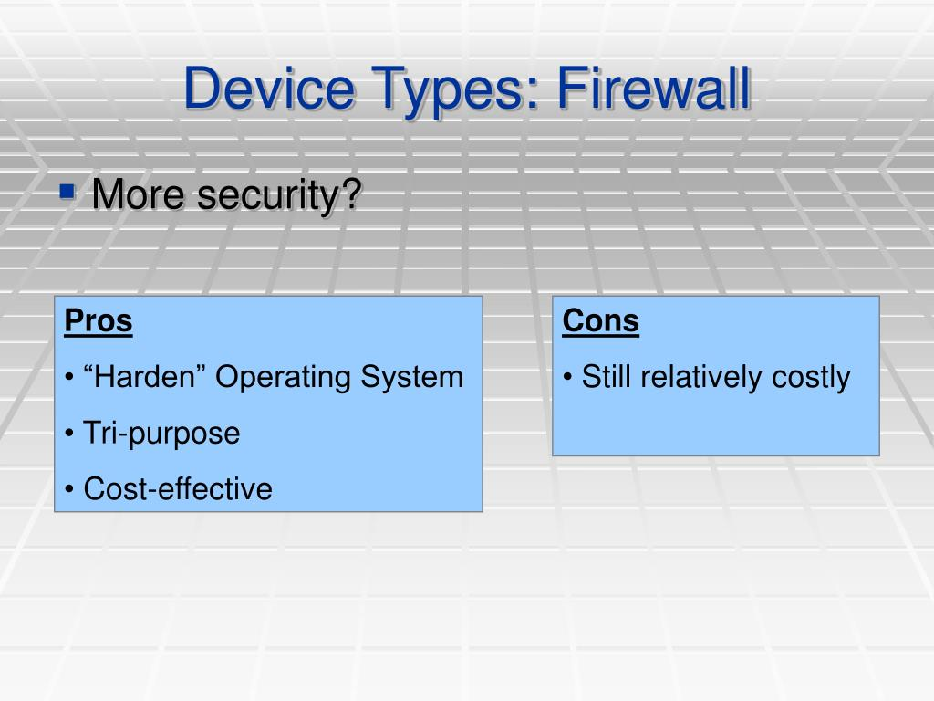 Device Types: Firewall