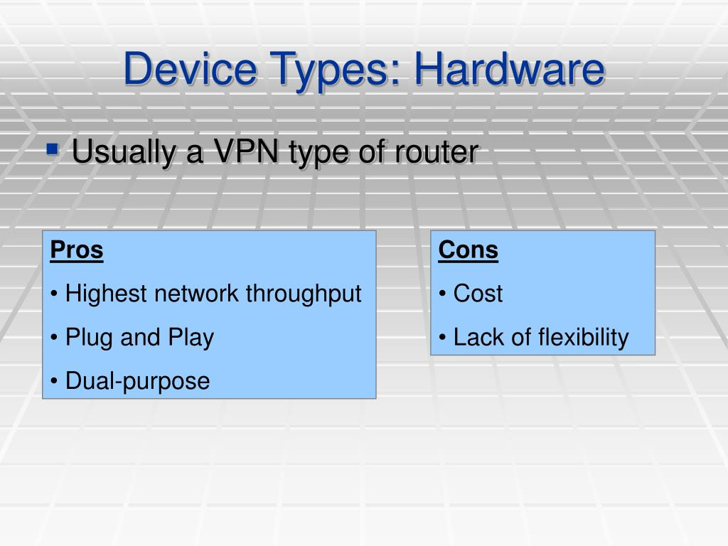 Device Types: Hardware
