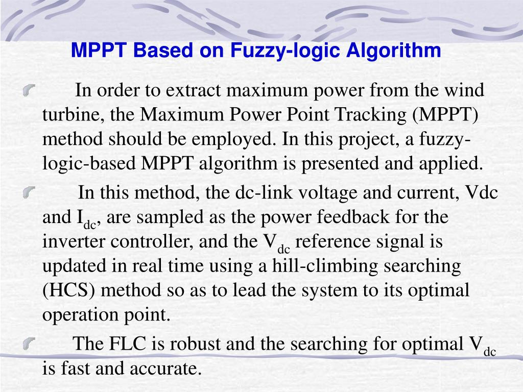MPPT Based on Fuzzy-logic Algorithm