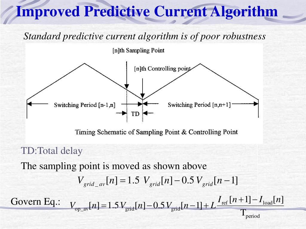 Improved Predictive Current Algorithm
