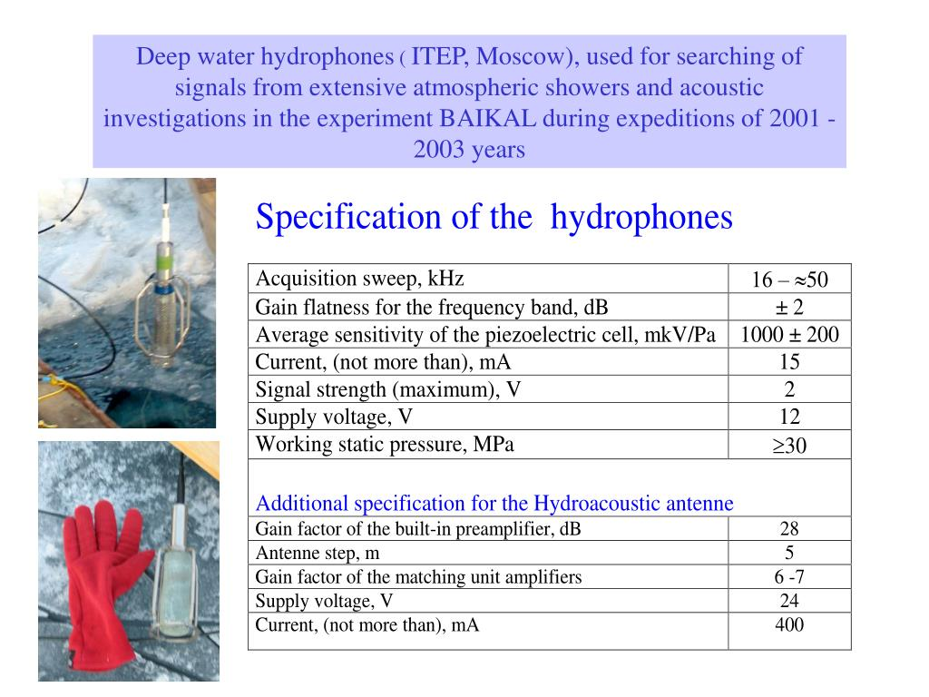 Deep water hydrophones