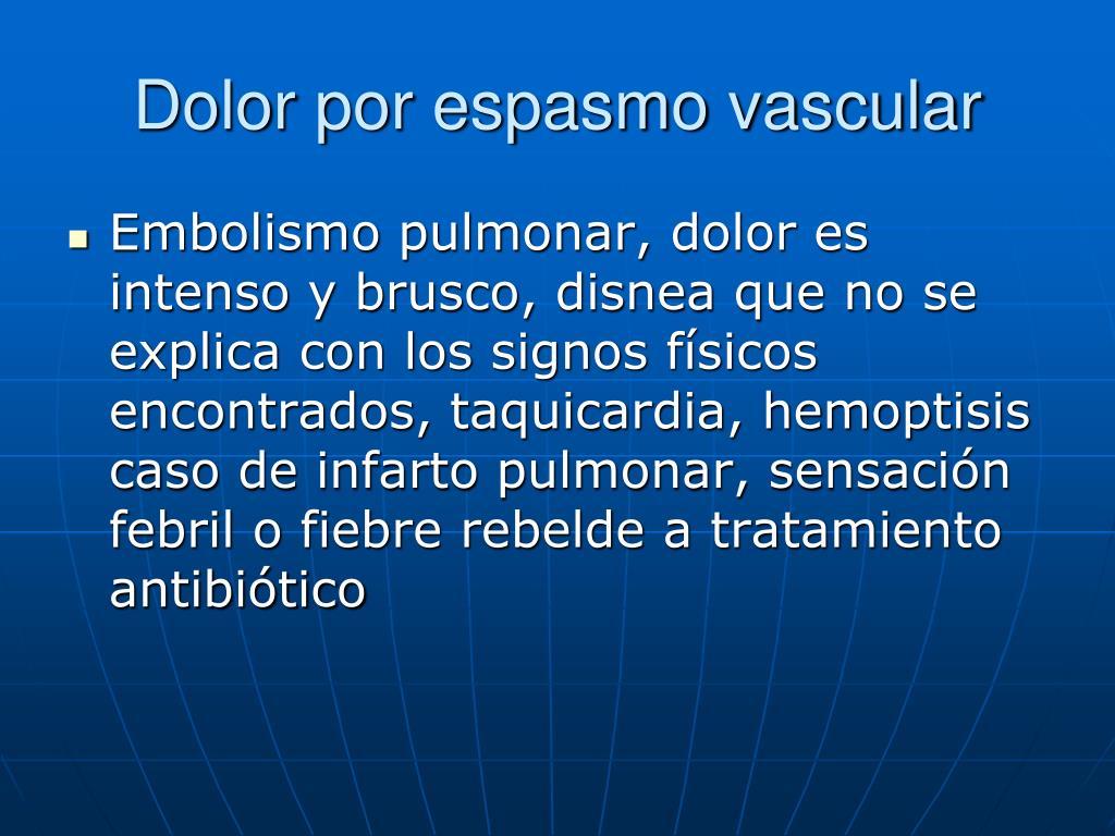 Dolor por espasmo vascular