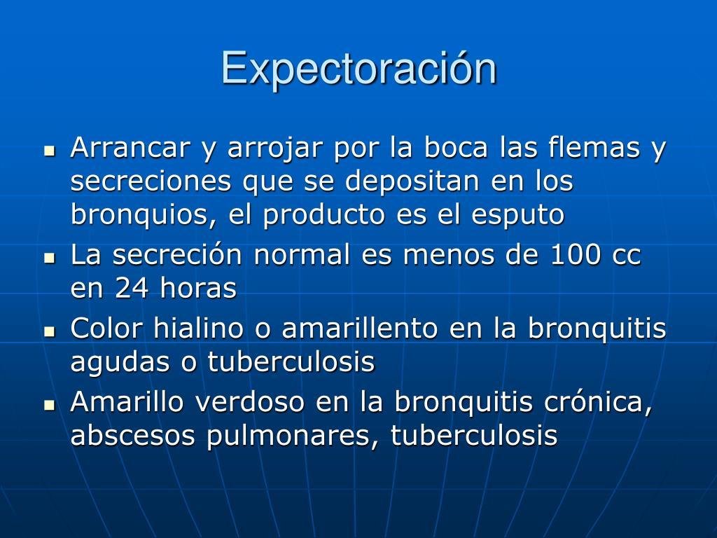 Expectoración