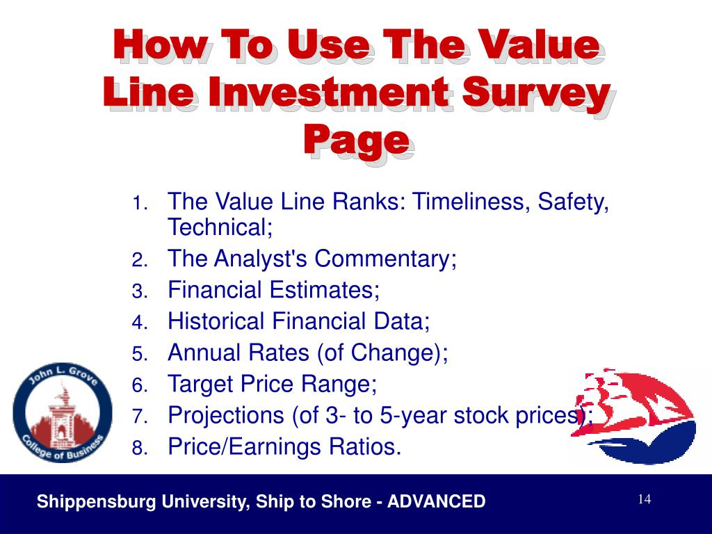 How To Use The Value Line Investment Survey Page