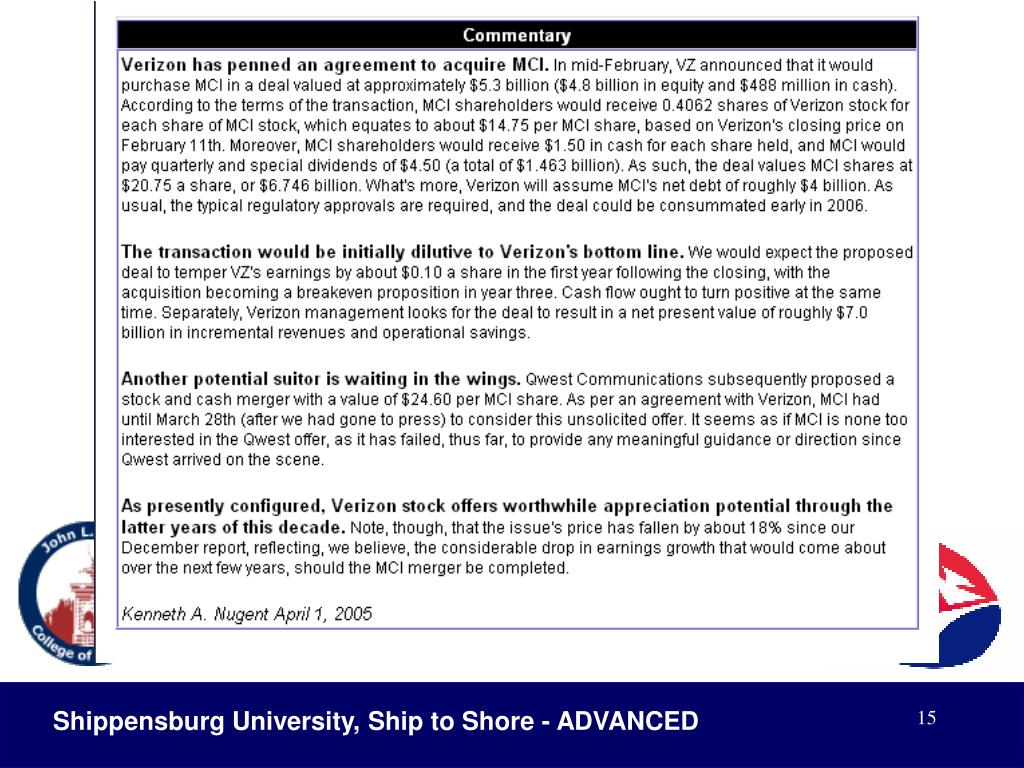 Shippensburg University, Ship to Shore - ADVANCED