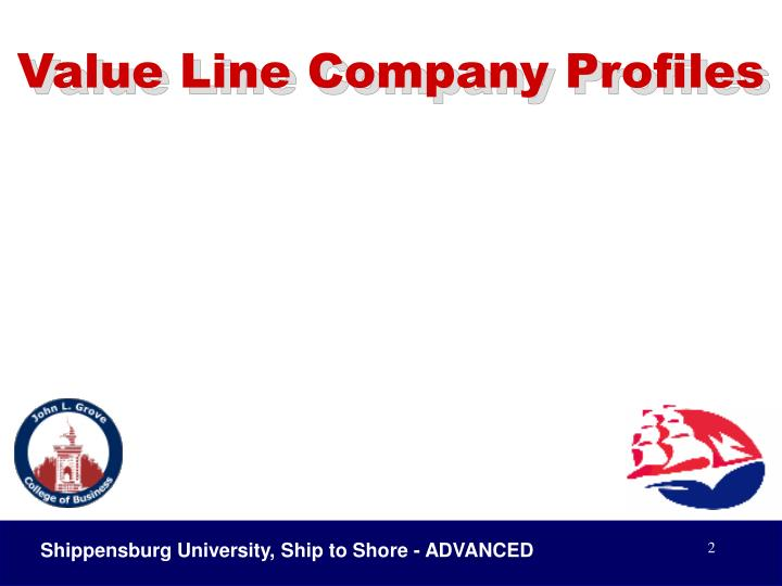 Value line company profiles