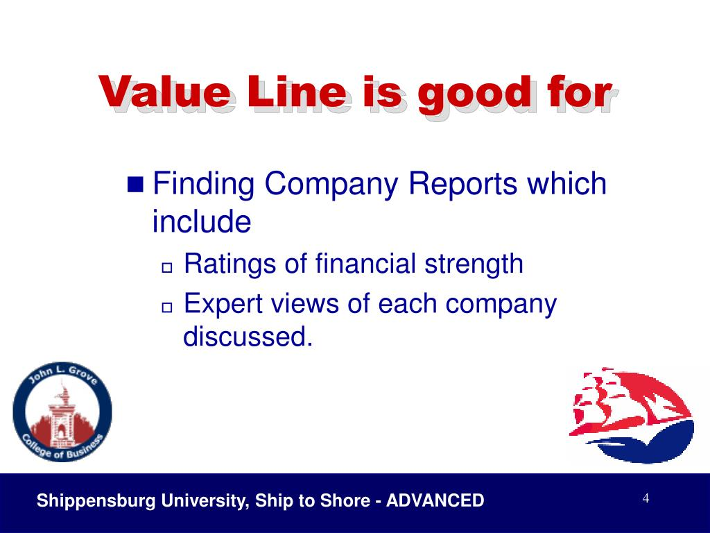 Value Line is good for