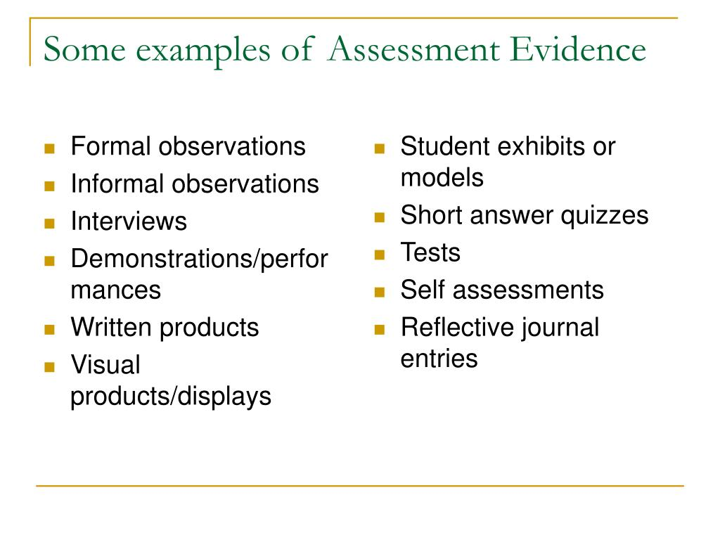 a1 assessor evidence example A12 - judge evidence against criteria to make assessment decisions requires 3 assessment plans (a11) requires 1 record of discussion/interview between tdlb assessor and assessor candidate.